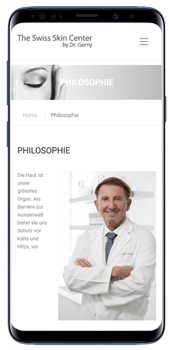 The Swiss Skin Center by Dr. Gerny Smartphone