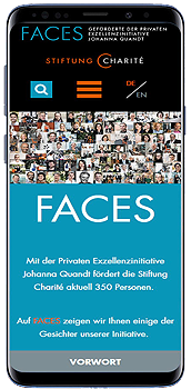 Stiftung Charite Faces Smartphone